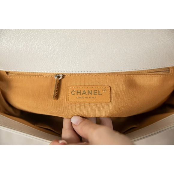 CHANEL Handbags - Chanel pearl quilted leather Medium boy flap bag